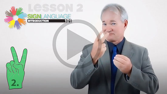 Online sign language lessons free alphabet, colors and pronouns